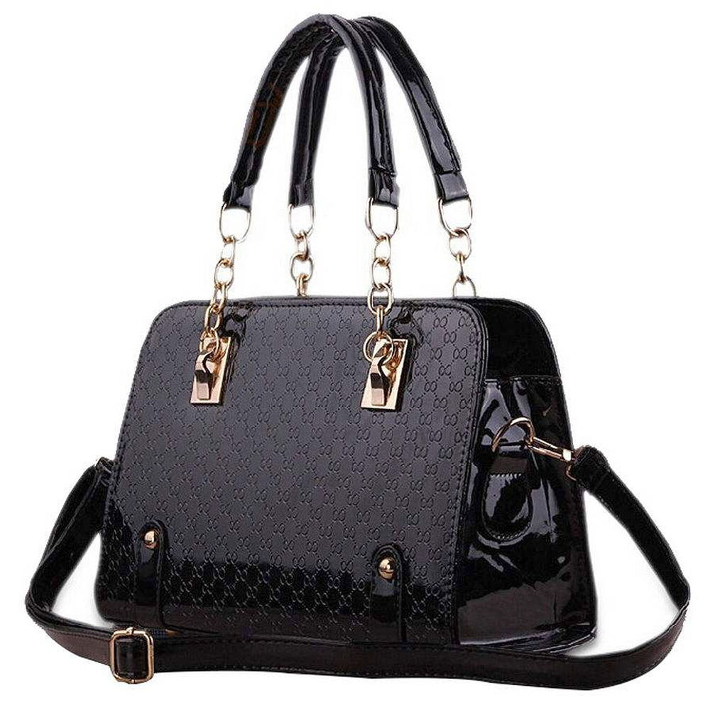 New Women Handbag Shoulder Bags Tote Purse PU Leather Lady ...