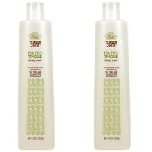 Trader Joe's Tea Tree Tingle Body Wash Peppermint & Eucalyptus 32OZ (2 Bottles)