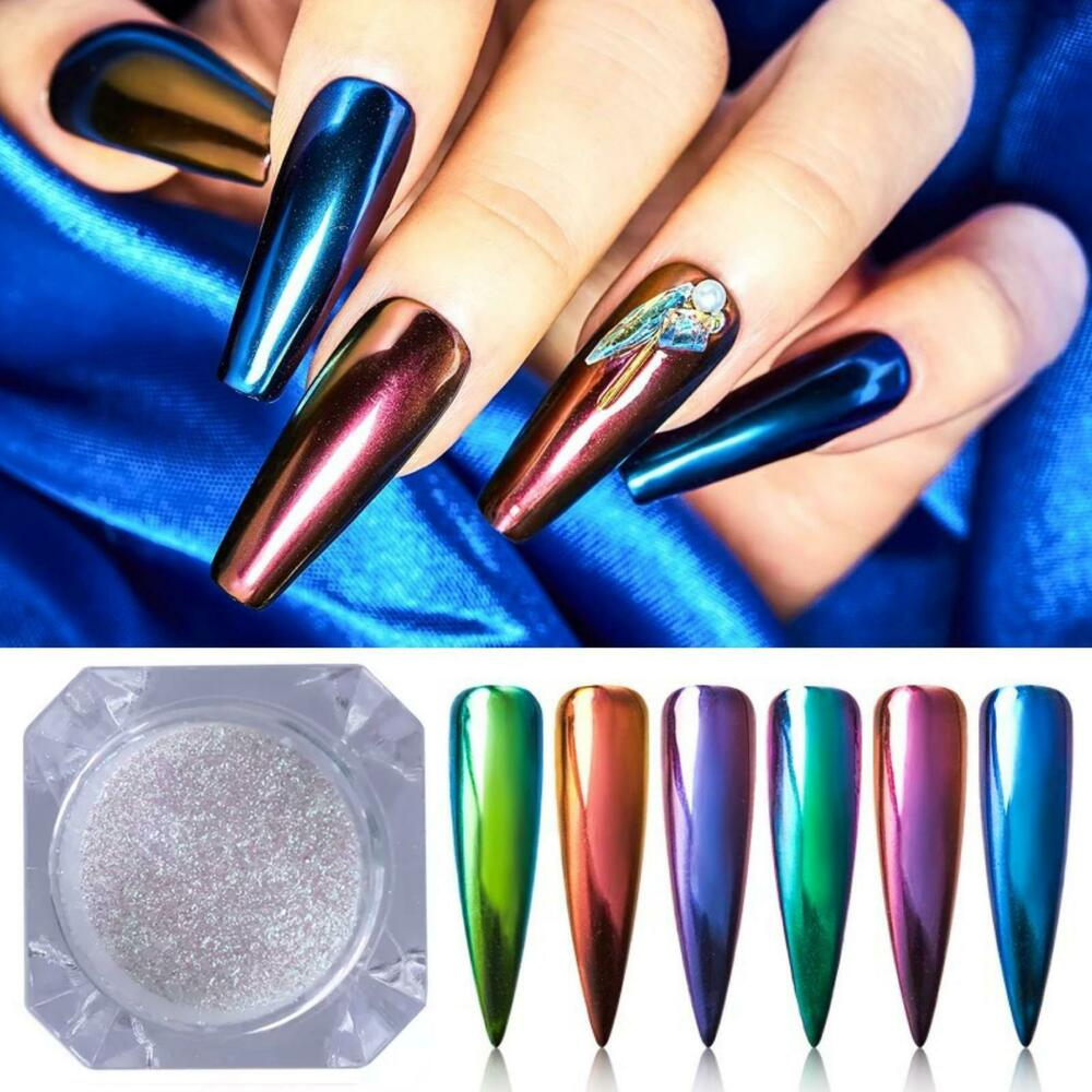 Q Riouser Q Riouser Nail Art: MIRROR CHROME PIGMENT CHAMELEON COLORS NAIL ART POWDER NO