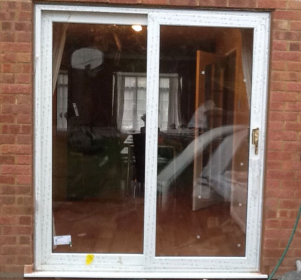 Upvc white sliding patio doors 1790mm x 2090mm fast for White sliding patio doors