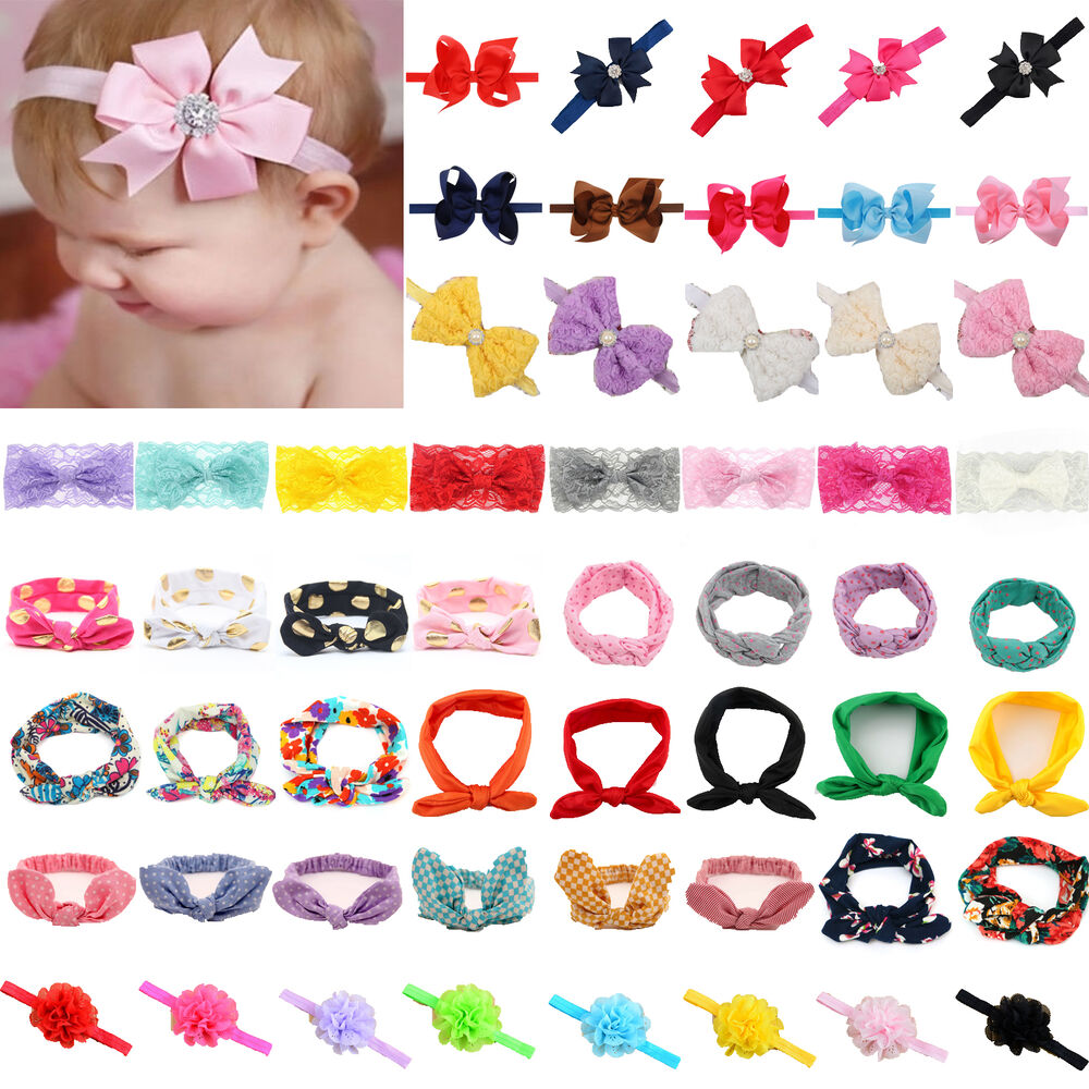 Soft elastic baby girls kid newborn hair accessories hairband