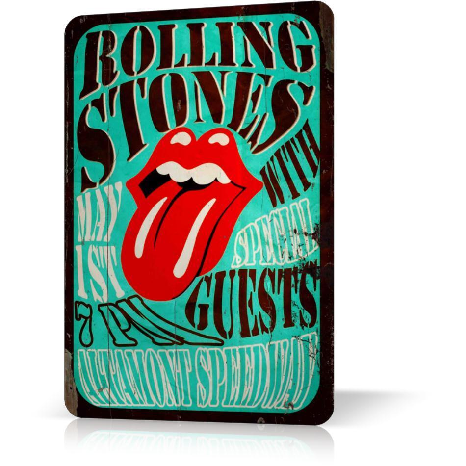 Metal Tin Sign Rolling Stones Poster Concert Altamont