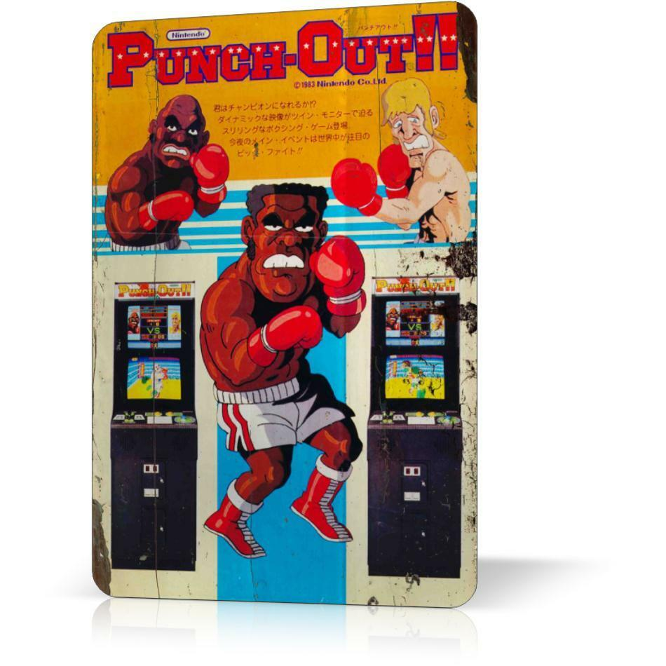 Metal tin sign nintendo punch out classic video game 2 for What is a punch out list