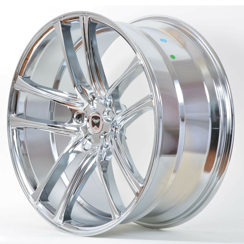 4 Gwg Wheels 22 Inch Chrome Zero Rims Fits 5x120 65 Chevy
