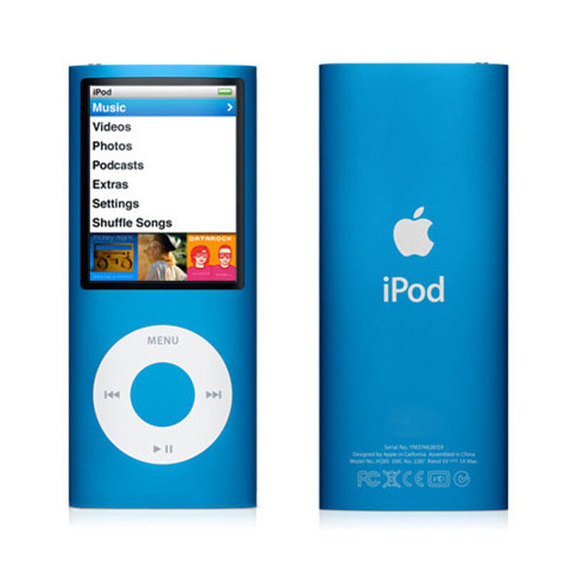 apple ipod nano 4th generation blue 8gb 885909258024 ebay. Black Bedroom Furniture Sets. Home Design Ideas