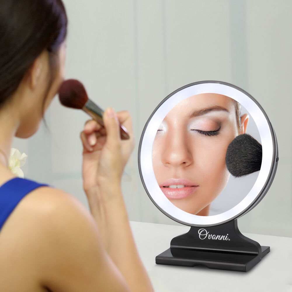5x Magnifying Makeup Cosmetic Mirror Led Lighted Portable