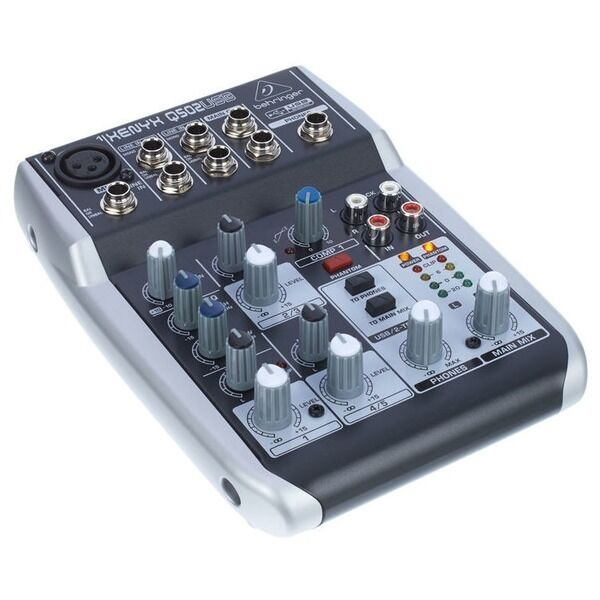 behringer xenyx q502usb 5 input 2 bus mixer portable mixer usb audio interface 5021196682608. Black Bedroom Furniture Sets. Home Design Ideas