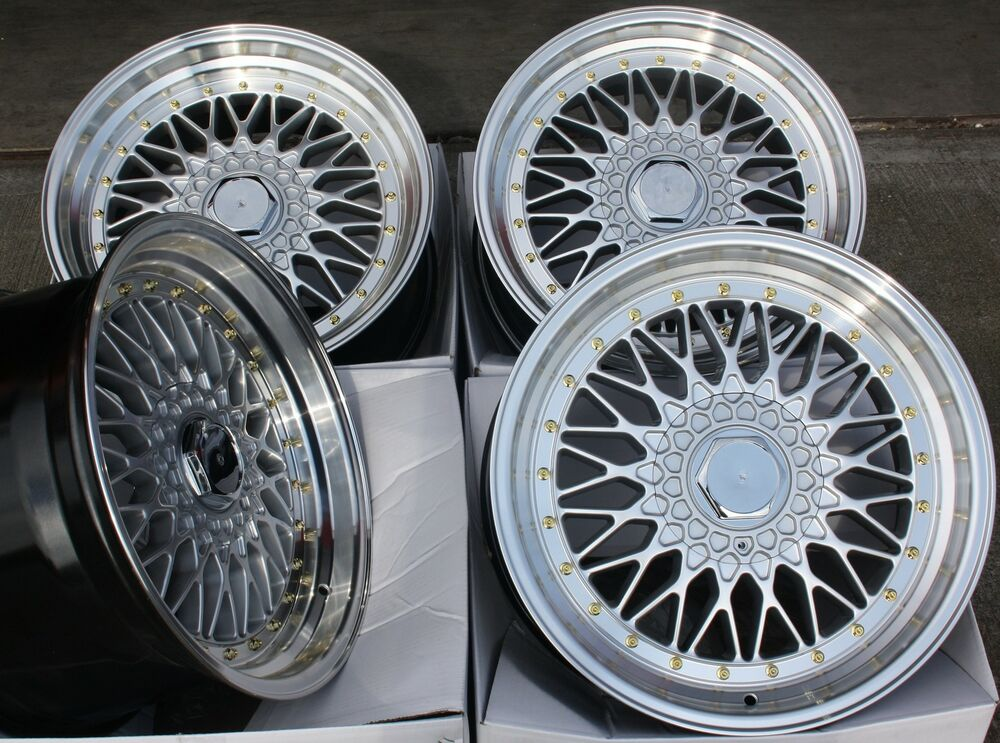 17 Quot Rs Silver Amp Polished Style Deep Dish Alloy Wheels