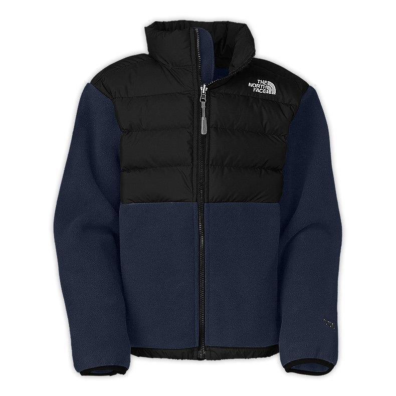 bc6df61d633e4 Details about THE NORTH FACE BOYS DENALI JACKET 550 DOWN FILL FLEECE BLUE  SIZE M 10/12 NEW