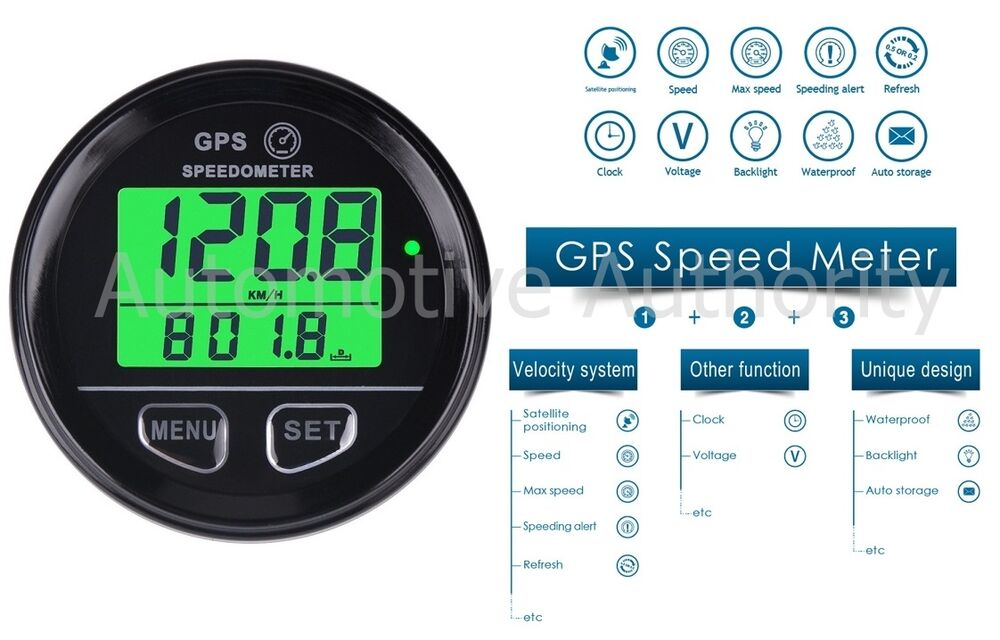 Gps Speedometer Gauge Odometer Battery Meter Digital Dash 60mm 12v 24v 701231035334