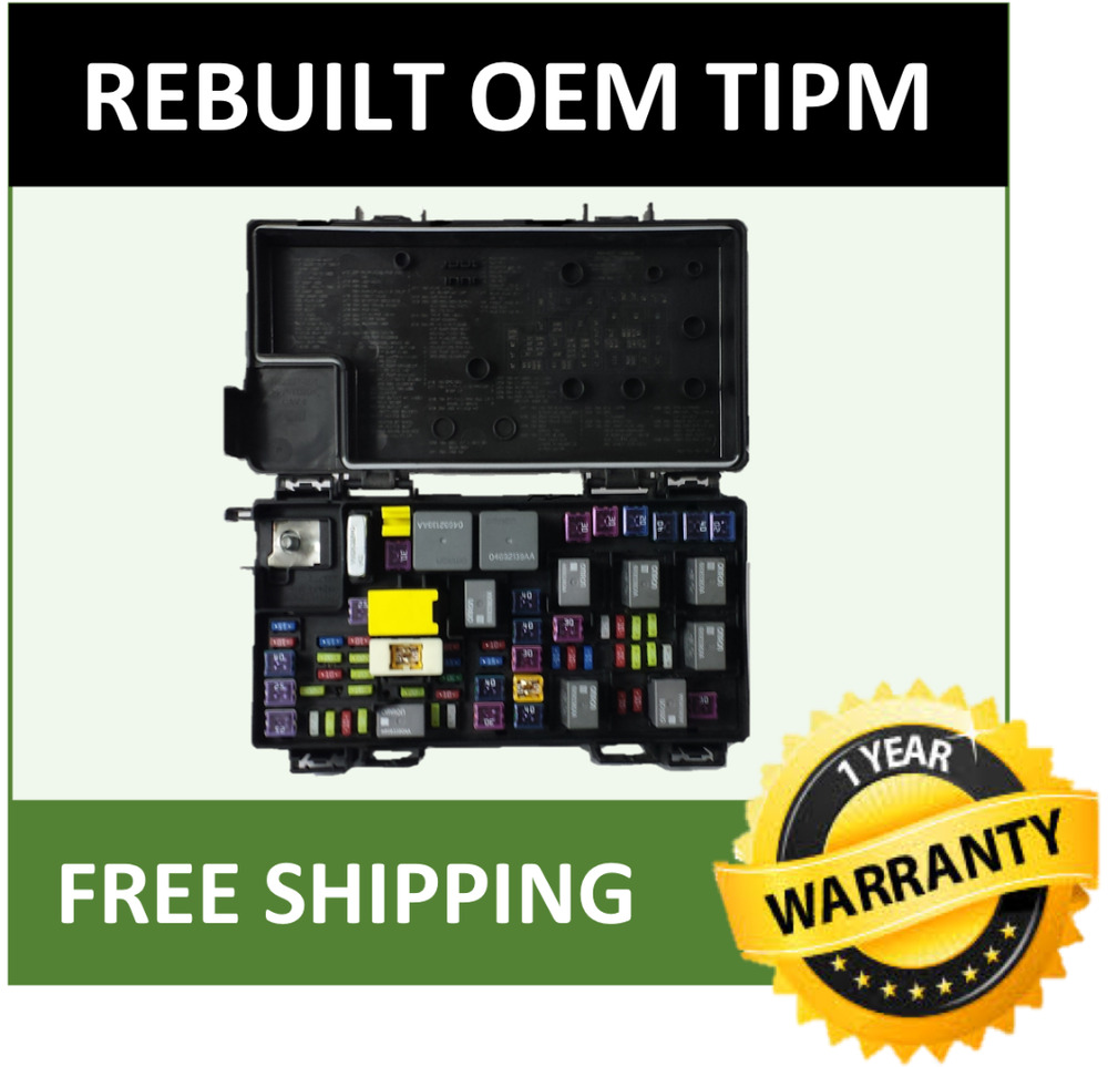 2012 Dodge Grand Caravan Tipm    Fuse Box    Integrated