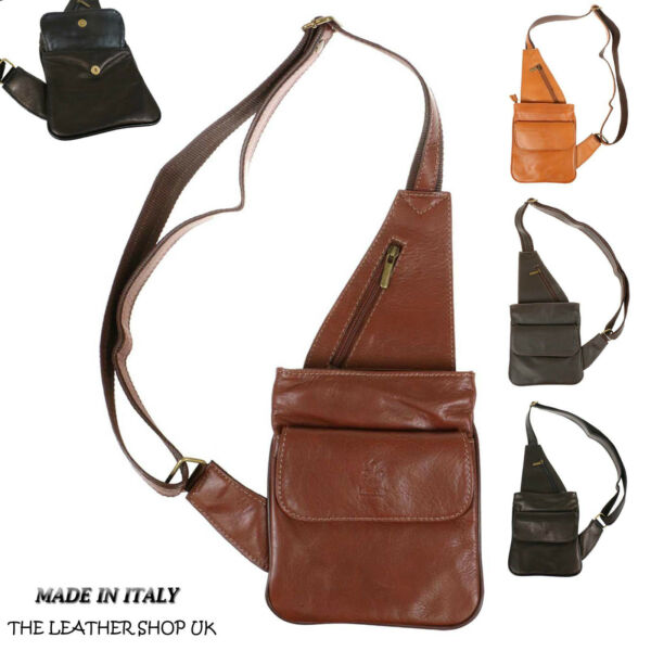 Doux Italien Mens En Cuir V_ritable Holster Made In Italy hol003