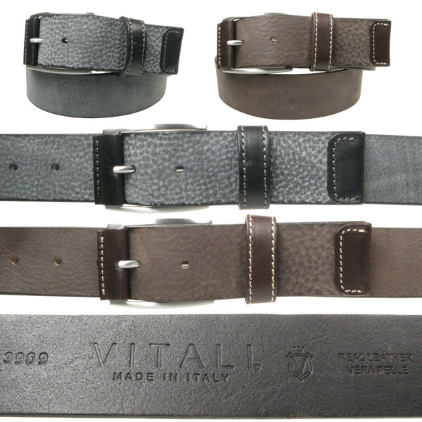 Vitali V_ritable Cuir Luxueux Hommes Jeans Ceinture Made in Italy 3909