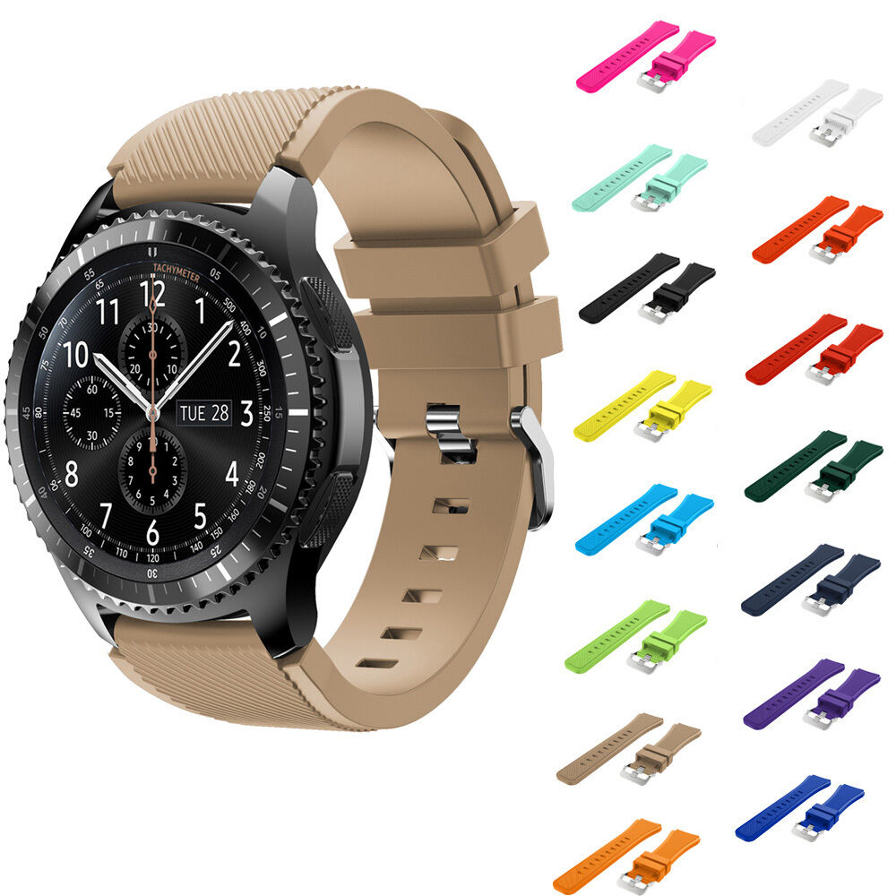 hot luxury rubber replacement sport wrist watch band strap for samsung gear s3 ebay. Black Bedroom Furniture Sets. Home Design Ideas