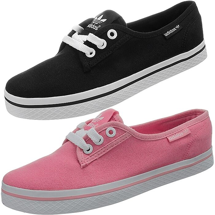 Adidas Honey Plimsole women's casual shoes black or pink ...