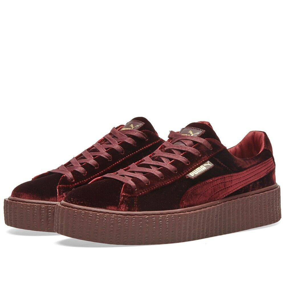 womens puma x fenty rihanna creeper 364466 02 velvet royal purple red burgundy ebay. Black Bedroom Furniture Sets. Home Design Ideas