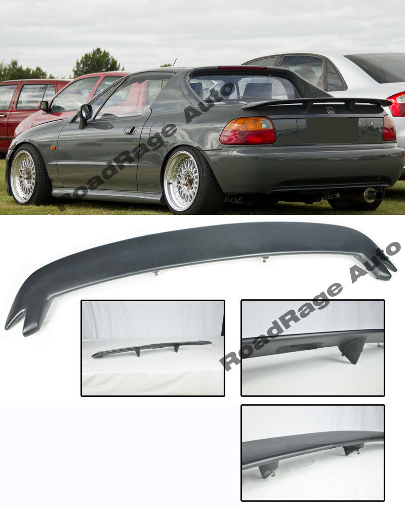 for 93 97 honda civic crx del sol mugen style rear wing. Black Bedroom Furniture Sets. Home Design Ideas