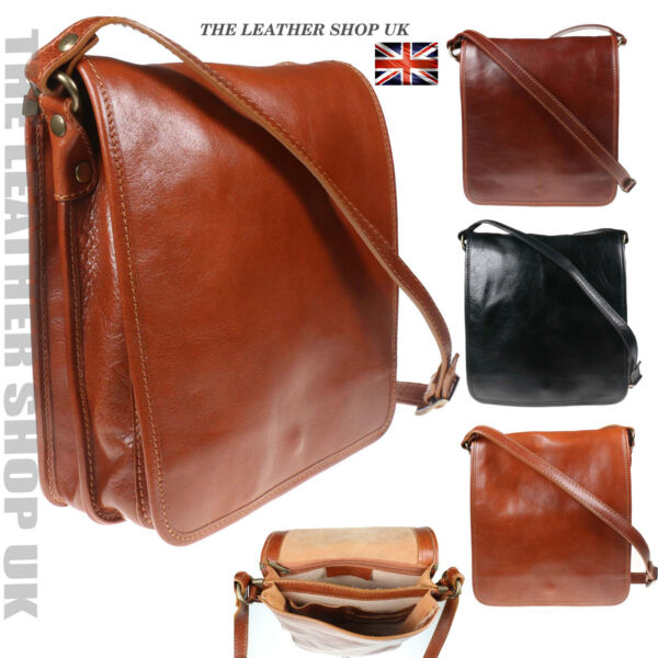 UK Messager Port_ ãpaule V_ritable Cuir Bag Made In Italy