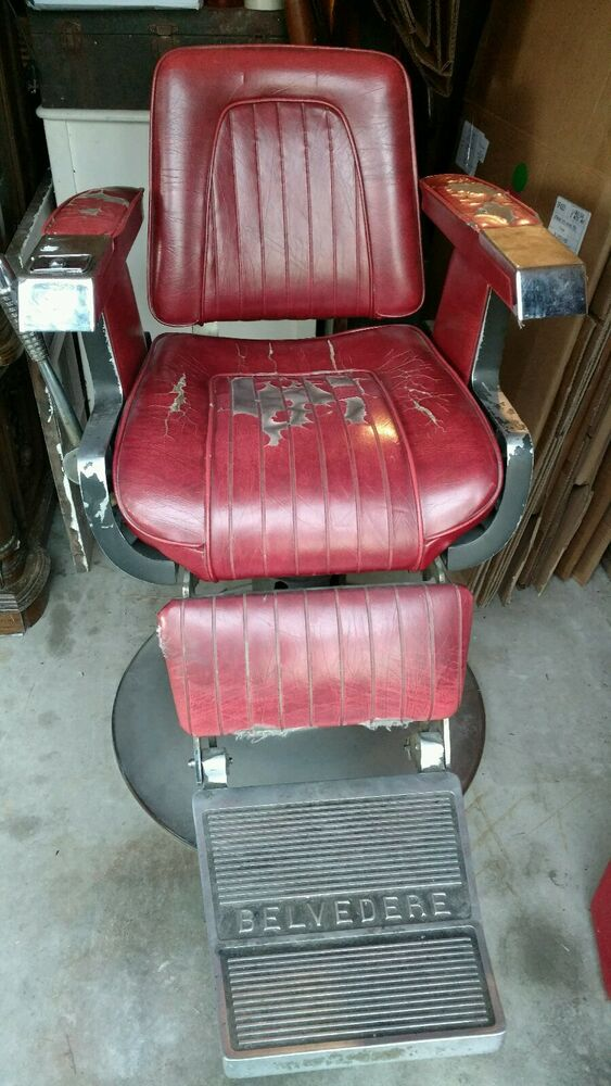 Vintage BELVEDERE Barber Chair PICK UP ONLY EBay