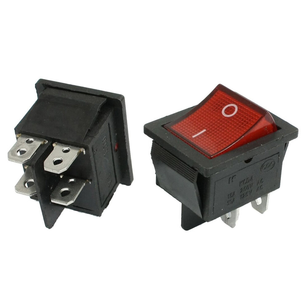 Ac Rocker Switch Wiring Example Electrical Diagram 3 Prong 2 Pcs Kcd4 Dpst On Off 4 Pin Boat 15a 20a 5