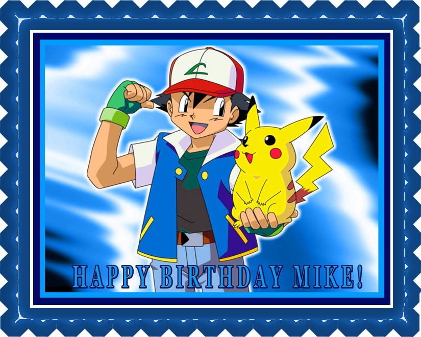Edible Cake Decorations Pokemon : POKEMON PIKACHU Edible Birthday Cake Topper OR Cupcake ...