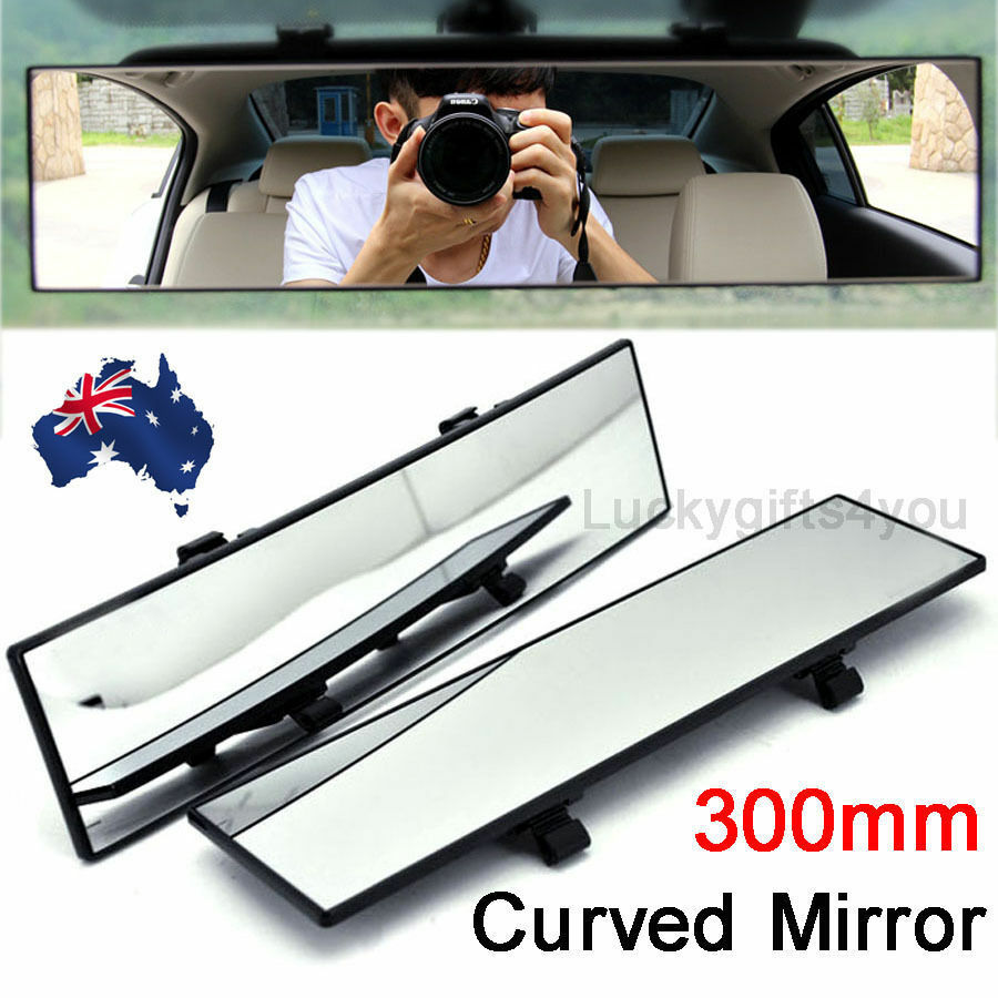 300mm universal car rear view mirror convex curve interior wide blind spot au ebay. Black Bedroom Furniture Sets. Home Design Ideas