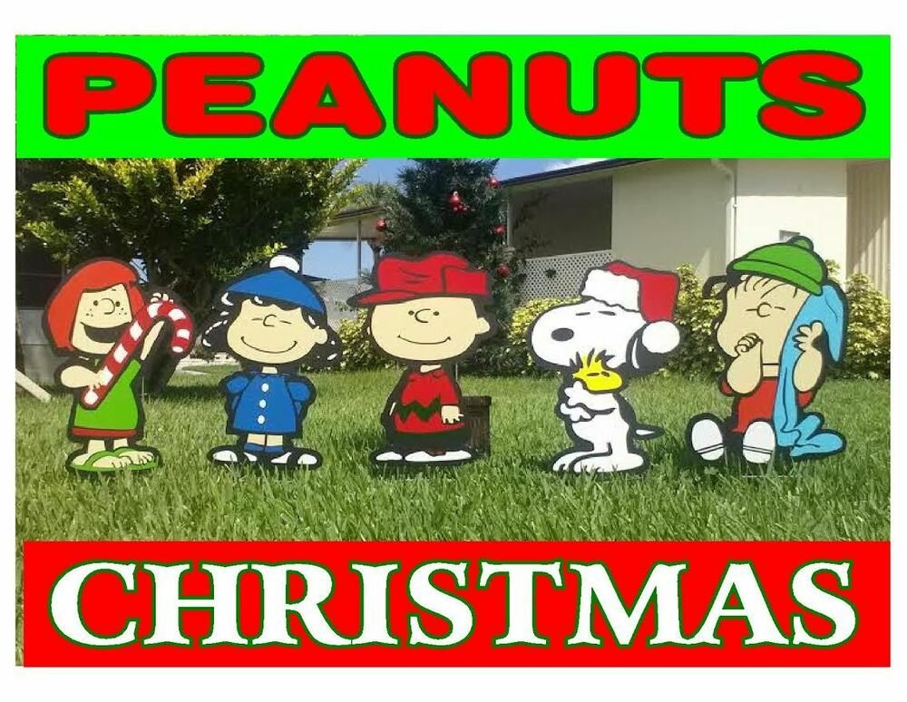 Charlie brown peanuts gang christmas holiday yard lawn art for Holiday lawn decorations
