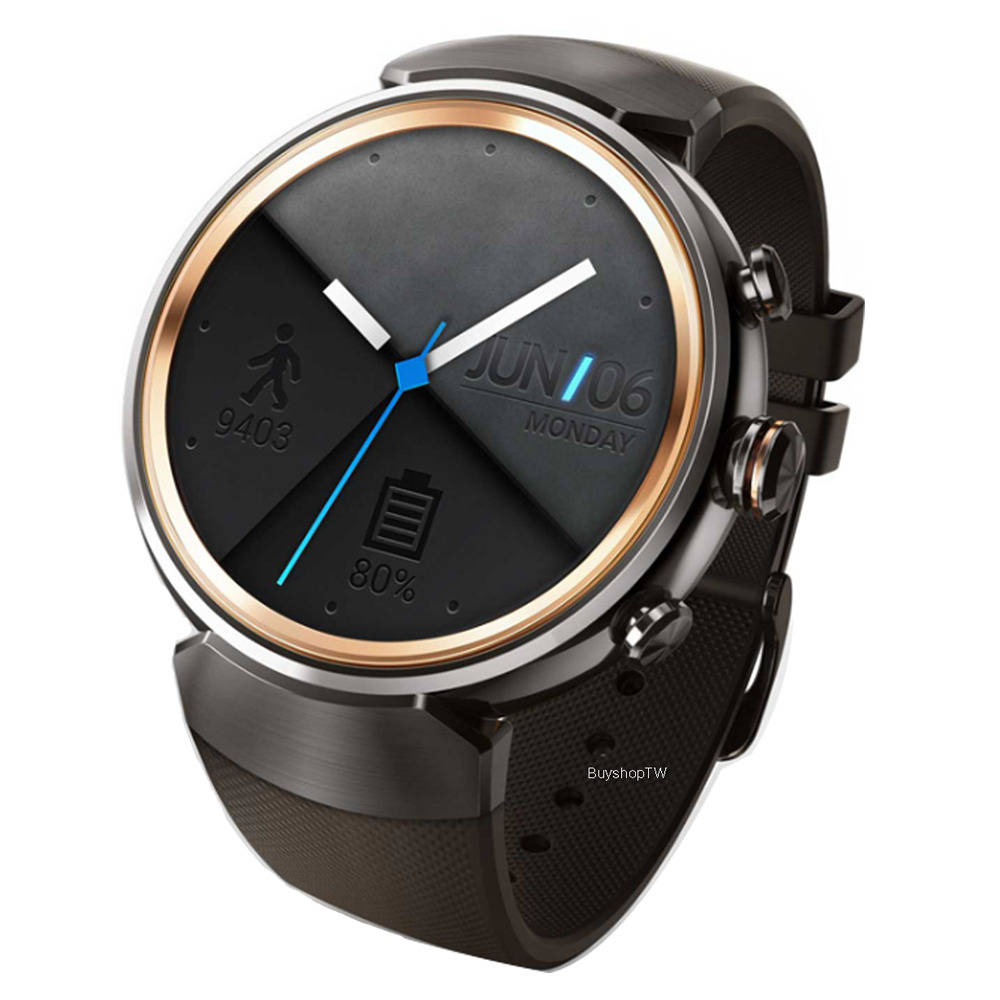 ASUS ZenWatch 3 Stainless Steel WiFi Bluetooth IP67 Rubber ...