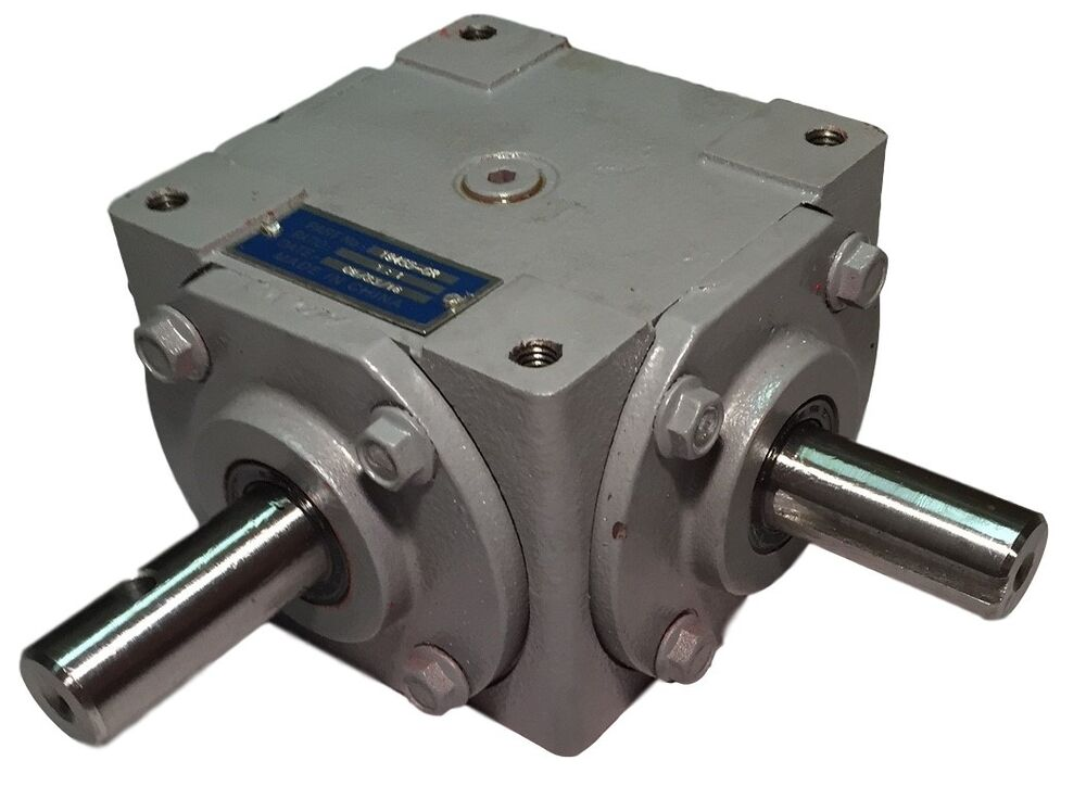 Right Angle Transmission : Hp right angle bevel gearbox w crosshole keyed shaft