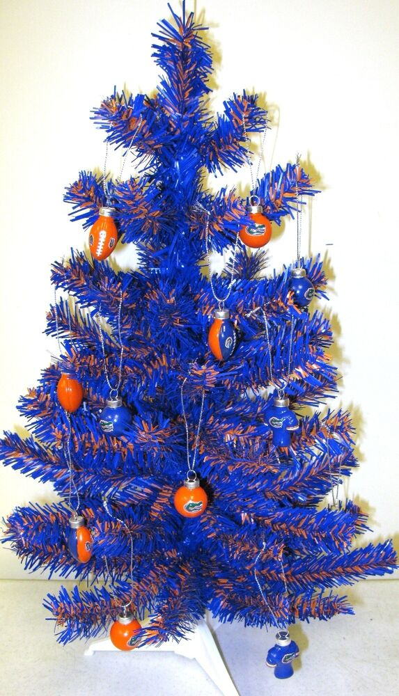 Florida Gators Blue Amp Orange 2ft Christmas Tree W 12