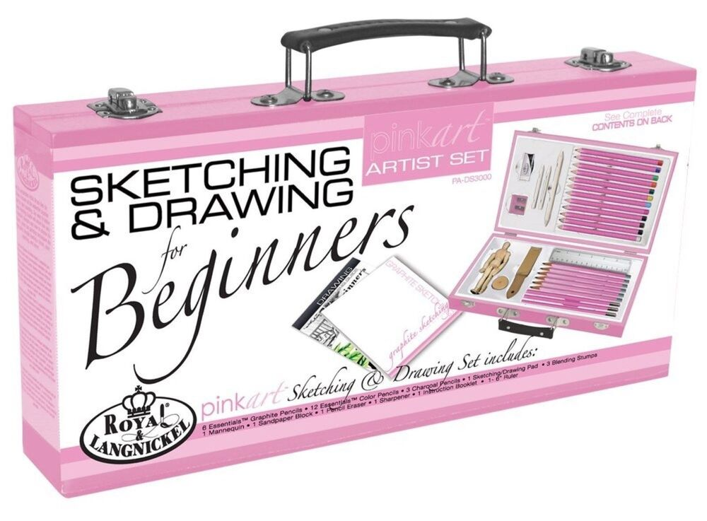 Sketching drawing pencil color kit art supplies beginner for Watercolor supplies for beginners