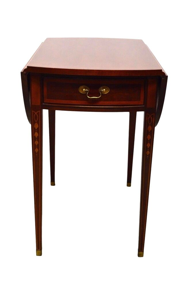 HICKORY American Masterpiece Collection Mahogany Inlaid U0026 Painted Pembroke  Table