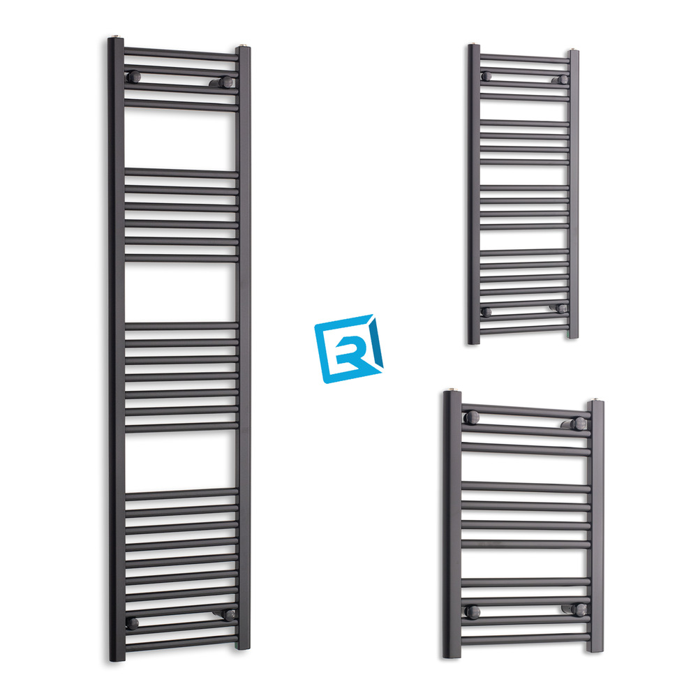 300mm Wide Black Designer Electric Heated Towel Rail: 400 Mm Wide Matt Black Heated Towel Rail Radiator Designer