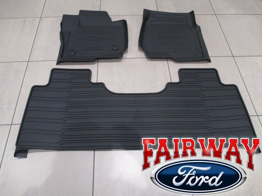 17 thru 18 super duty oem ford tray style molded floor mat for 17 floor