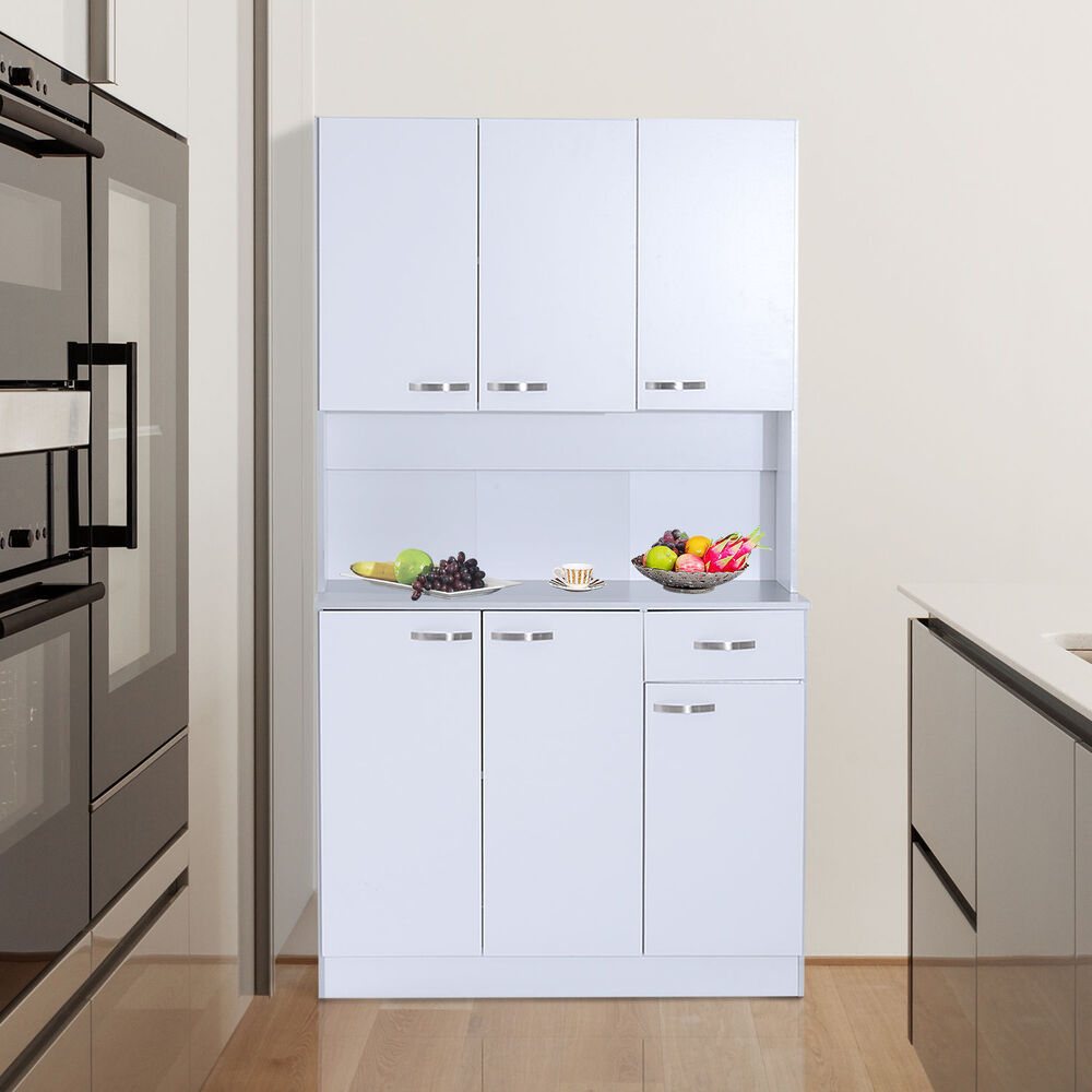 Free standing kitchen furniture tall cabinet unit modern for Kitchen cabinets ebay