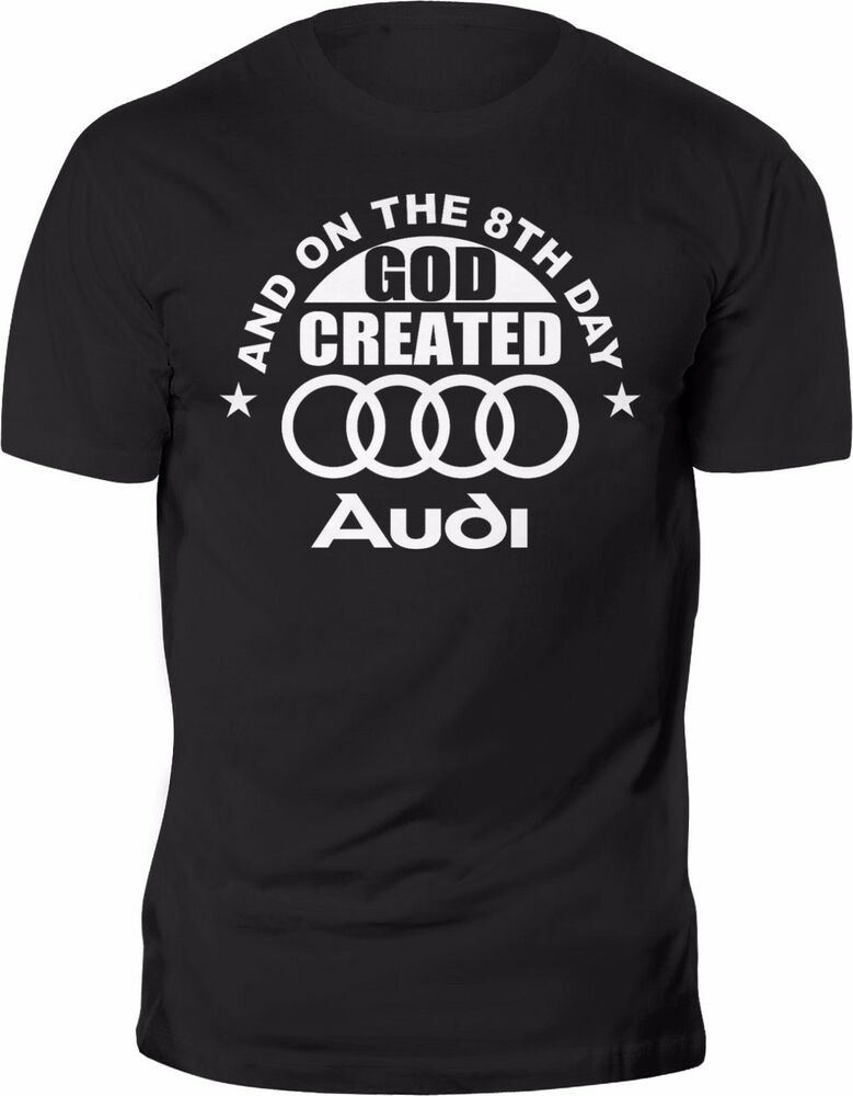 new t shirt audi funny quattro best car tee 100 cotton black ebay. Black Bedroom Furniture Sets. Home Design Ideas