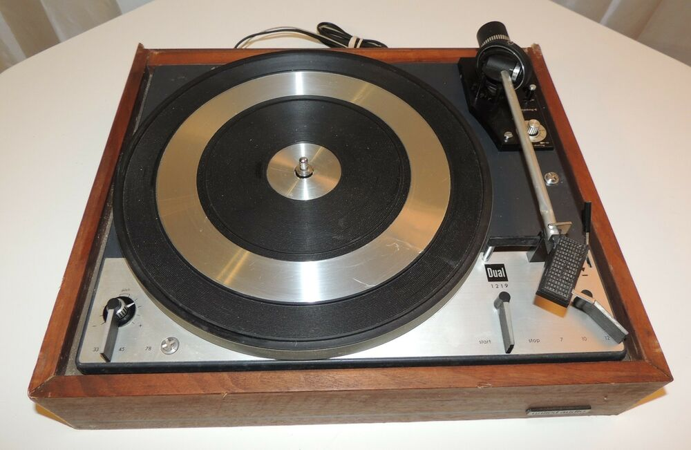 dual 1219 turntable record player vintage parts or repair ebay. Black Bedroom Furniture Sets. Home Design Ideas