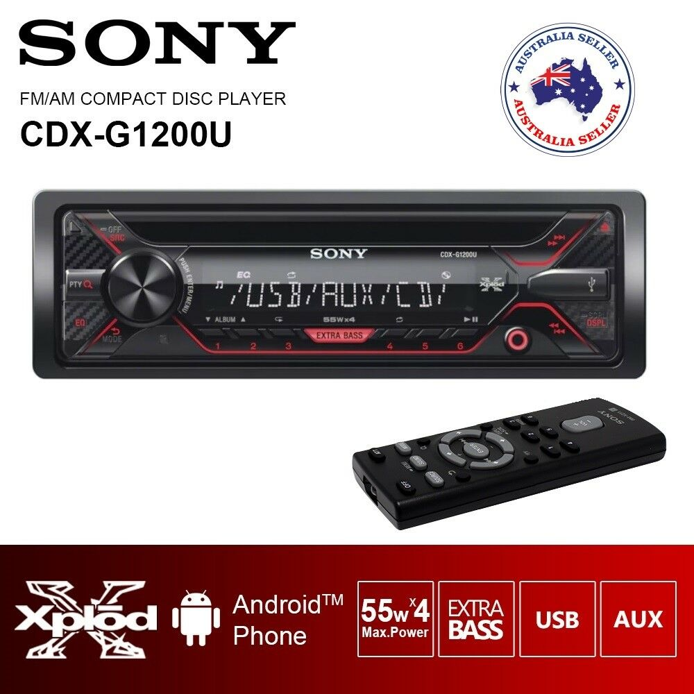 new sony cdx g1201u cd usb aux in car radio stereo. Black Bedroom Furniture Sets. Home Design Ideas