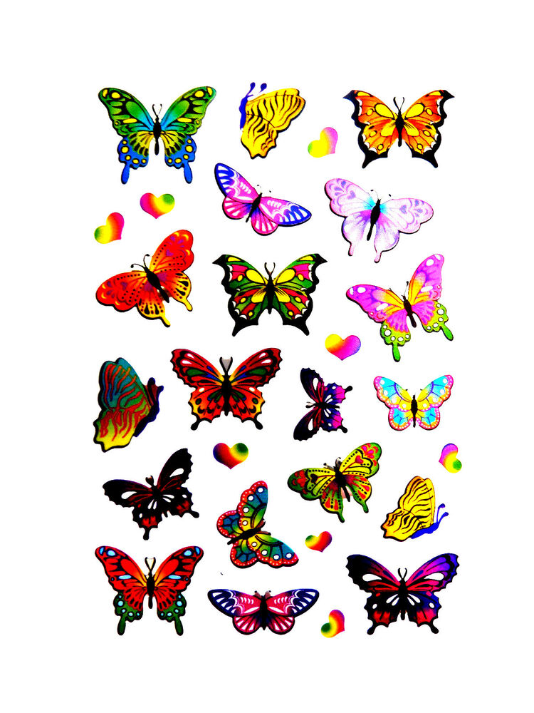 Butterfly Butterflies Stickers Kids Labels For Craft