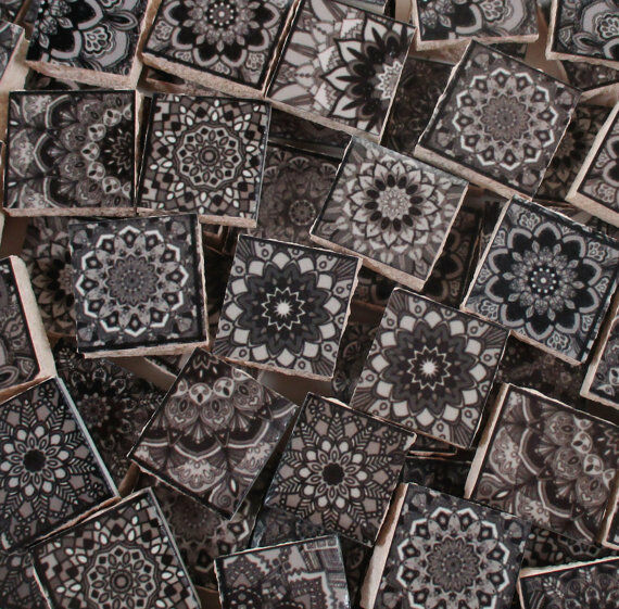 Ceramic mosaic tiles moroccan tile black grey moroccan Moroccan ceramic floor tile