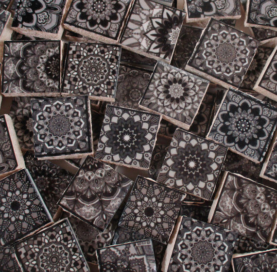 Ceramic Mosaic Tiles Moroccan Tile Black Grey Moroccan