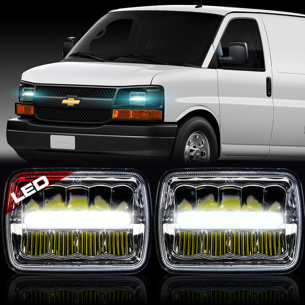 led headlight sealed beam headlamp for chevy express cargo van 1500 2500 3500 ebay. Black Bedroom Furniture Sets. Home Design Ideas