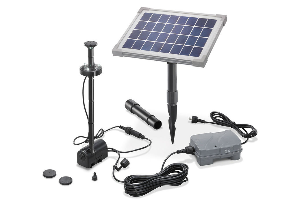 solar teichpumpe 5w mit akku und led gartenteich wasserspiel teich esotec 101920 ebay. Black Bedroom Furniture Sets. Home Design Ideas