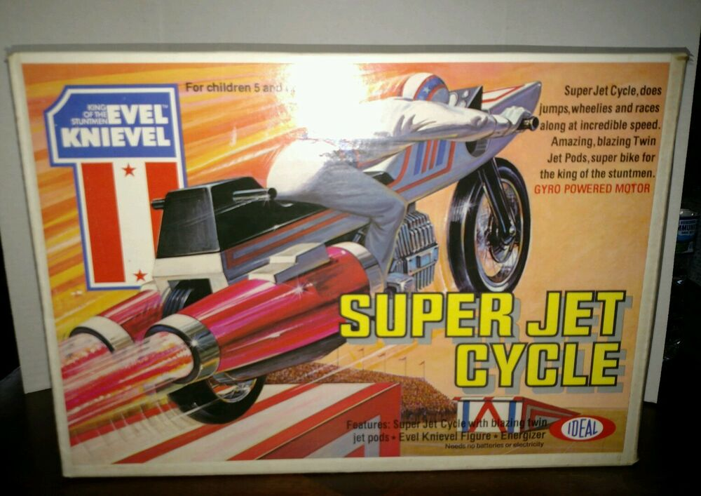 Vintage Evel Knievel In His: EVEL KNIEVEL SUPER JET CYCLE BRAND NEW SEALED VINTAGE 1976