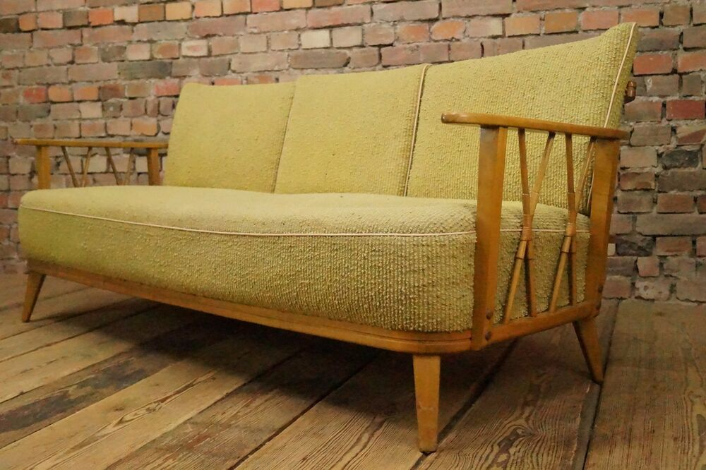 Wow 60s vintage sofa daybed danish sofabed bed couch for Wow sofa bed