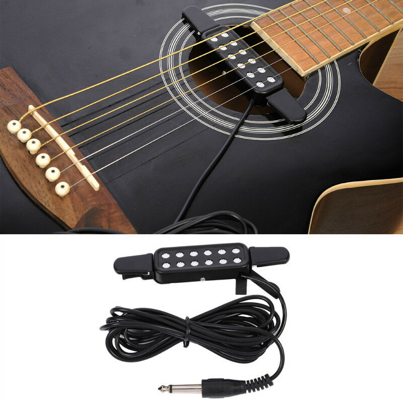 kq 3 12 hole sound pickup microphone wire amplifier speaker for acoustic guitar ebay. Black Bedroom Furniture Sets. Home Design Ideas