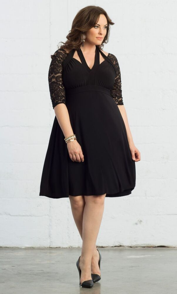 1b14db3d7d7 Details about NWT Plus Size Kiyonna Luring Lace Dress in Black