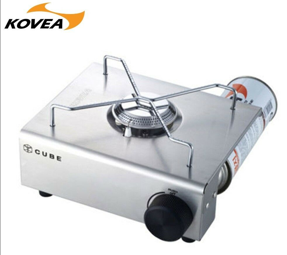 Mini Stove: KOVEA CUBE Stainless Mini GAS Stove KS8GS0402 OUTDOOR