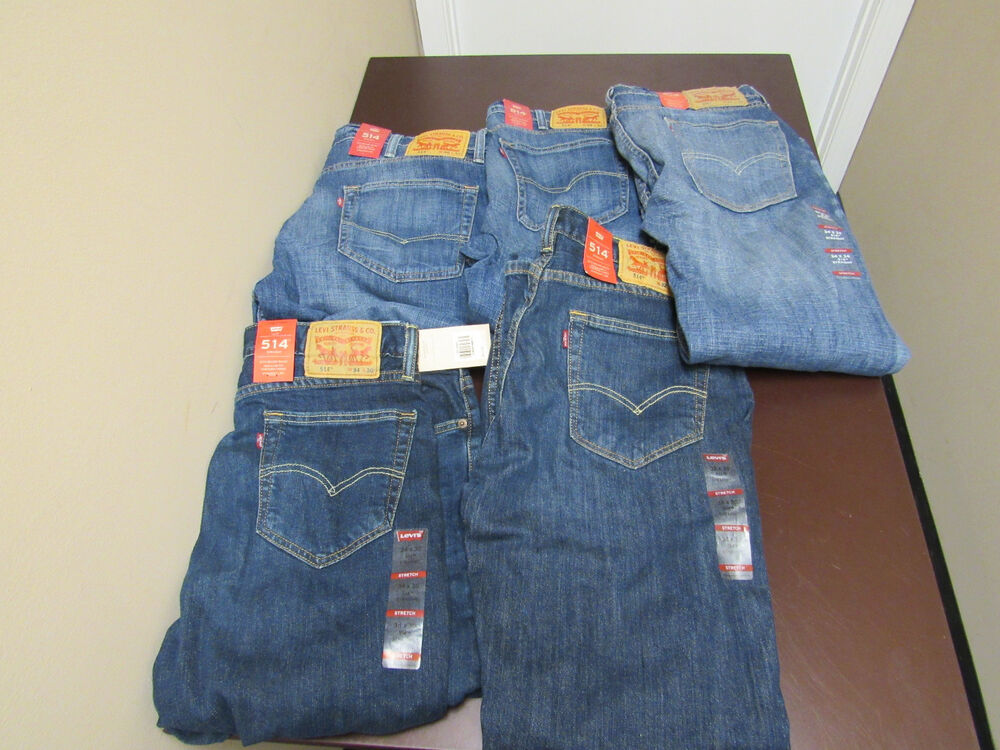 Levis Mens 514 Fit Straight Leg Stretch Denim Choose Size