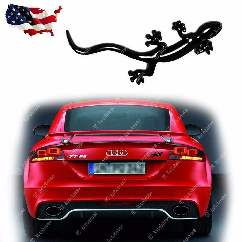 Black Lizard Gecko Badge Emblem For Audi Quattro A1 A4 A3